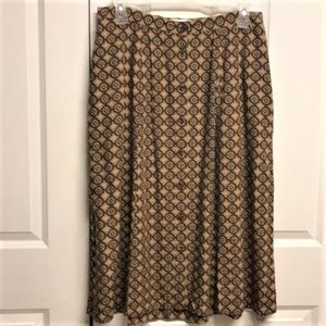 Elisabeth Button Front Skirt Size 14 Floral